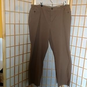 CJ Banks Brown Pants Comfort Waist Size 20W